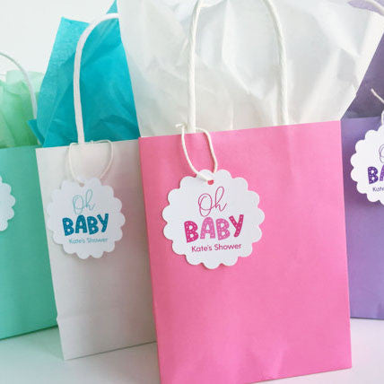 Oh Baby Baby Shower Gift Bags - Invited Too