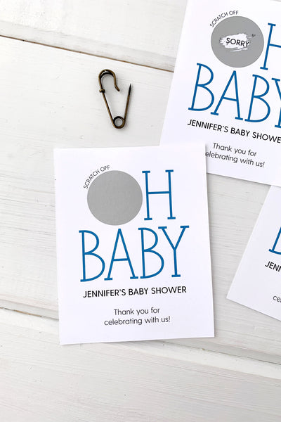 Oh Baby Personalized Baby Shower Scratch Offs - Invited Too