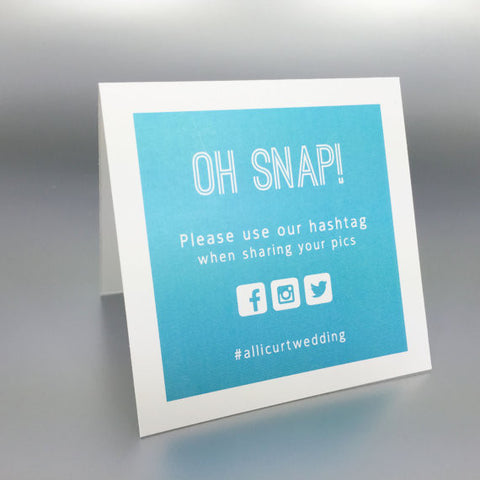 Oh Snap Instagram Sign - Invited Too