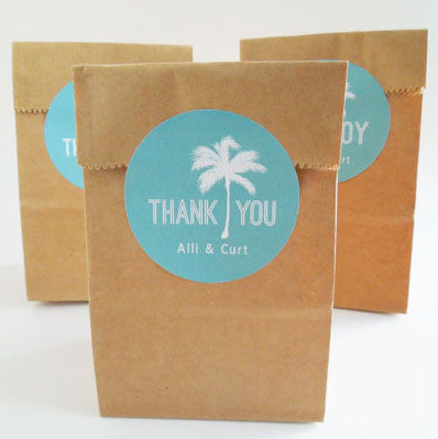 Palm Tree Destination Wedding Stickers - Invited Too