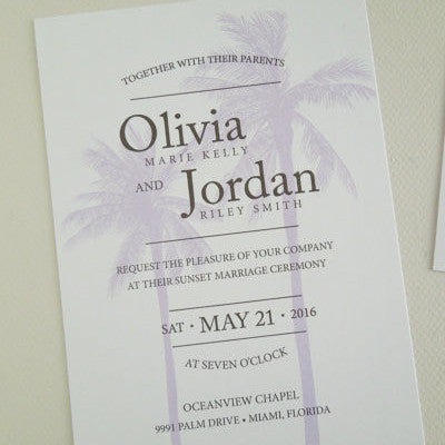 Palm Tree Wedding Invitation Set - Invited Too