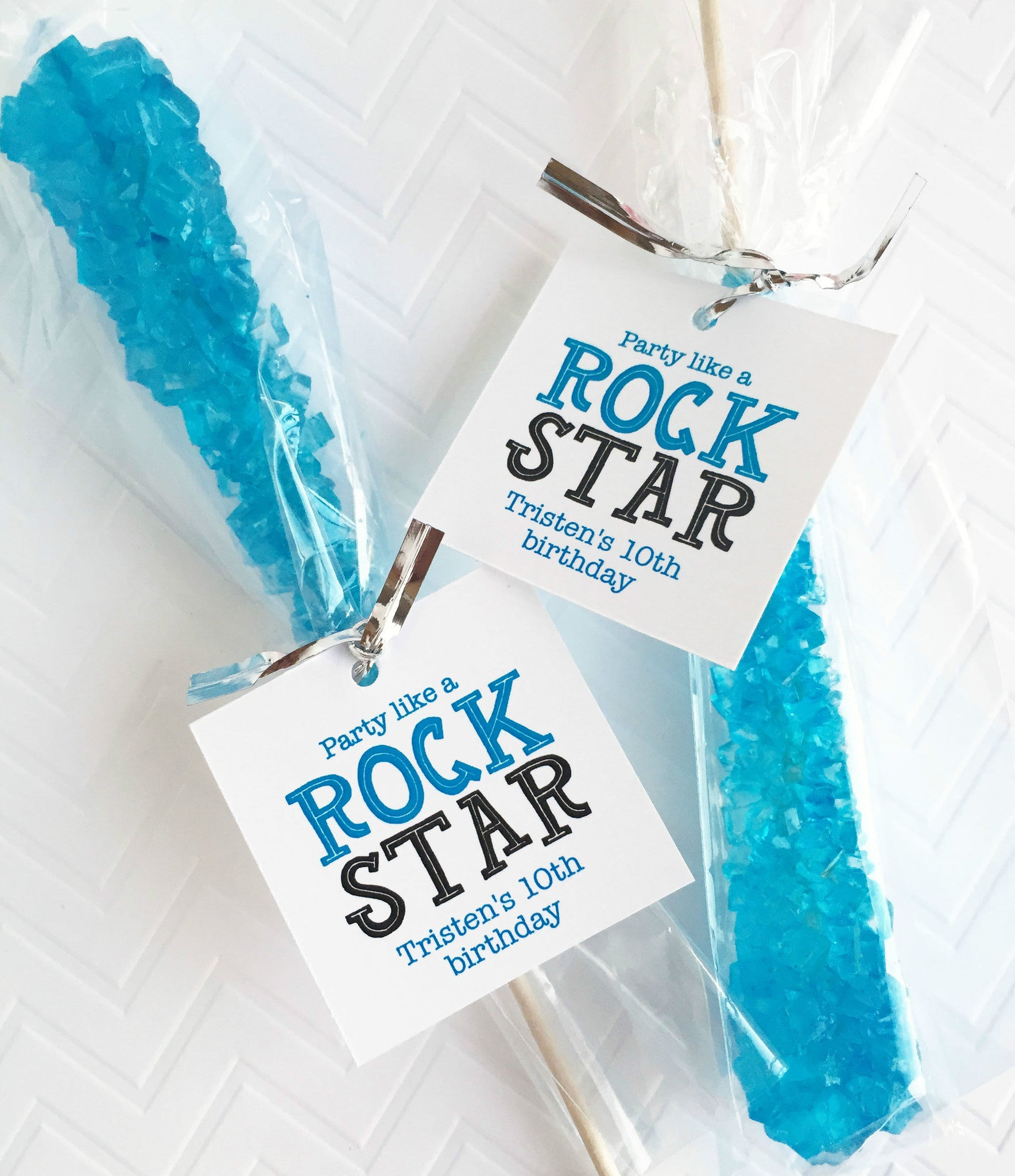 Party Like A Rock Star Rock Candy Tags – Invited Too