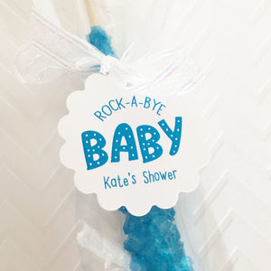 Rock A Bye Baby, Baby Shower Thank You Gift Tags - Invited Too