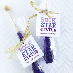 Rock Star Status Rock Candy Favor Tag, Rock Climbing Party Favor Tags