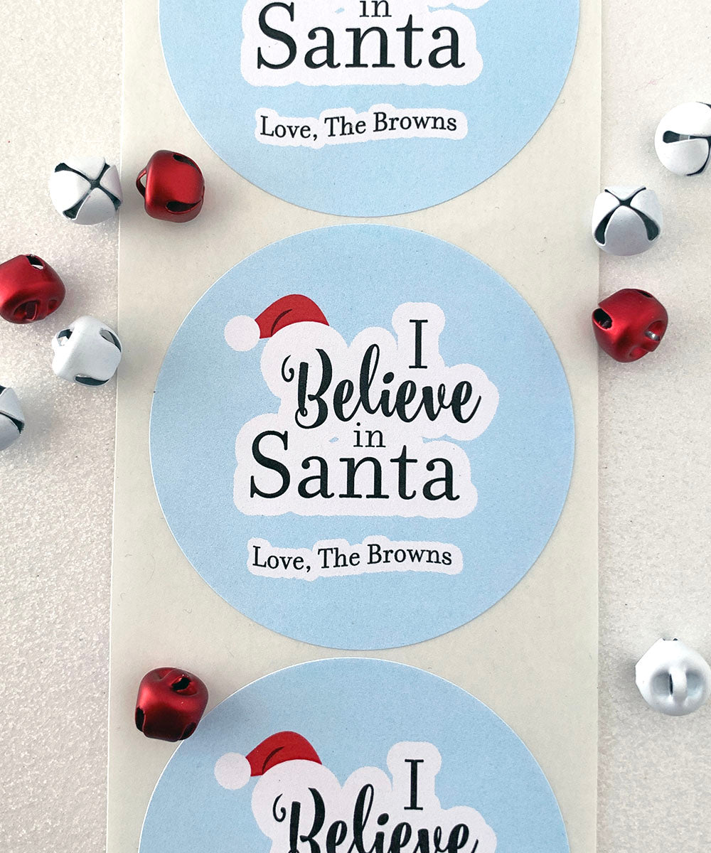 I Believe in Santa Christmas Sticker - Invited Too