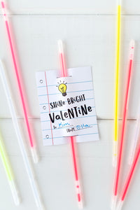 Shine Bright Glow Stick Valentine - Invited Too