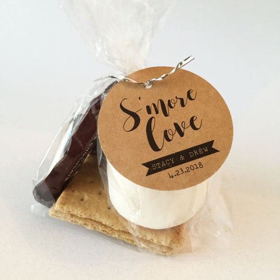 Kraft Smore Love Smores Wedding Favor Tag - Invited Too