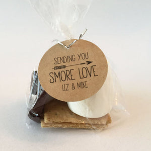 Sending You Smore Love Favor Tags Heart Arrow Design - Invited Too
