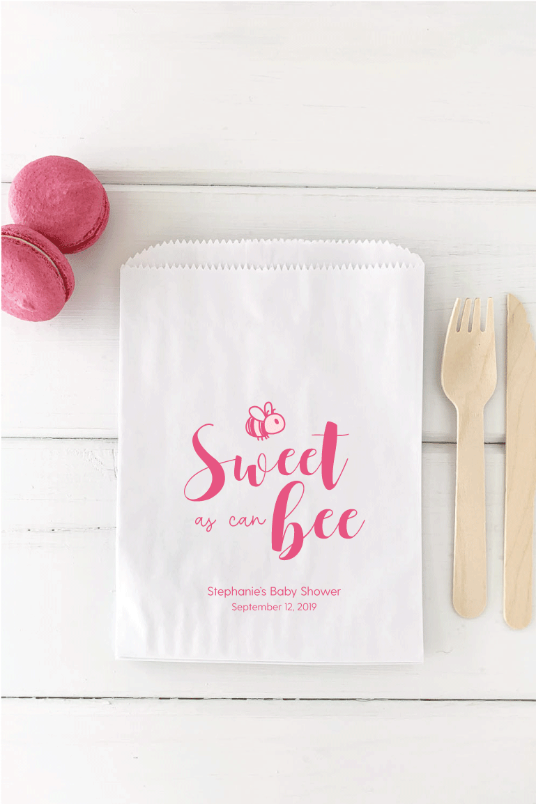 Sweet As Can Bee Baby Shower Favor Bag - Invited Too