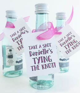Tying The Knot Favor Tag Bachelorette Party Favors - Invited Too