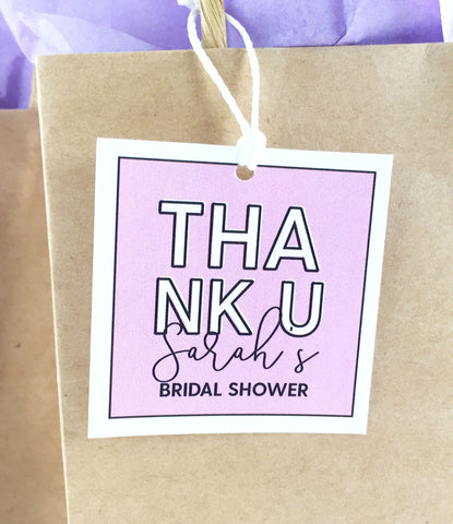 Thank You Bridal Shower Favor Tags - Invited Too
