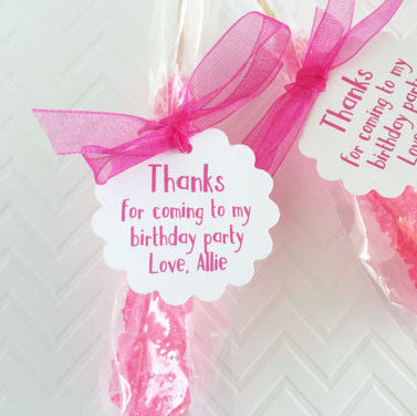 Thank You Birthday Party Favor Tags - Invited Too