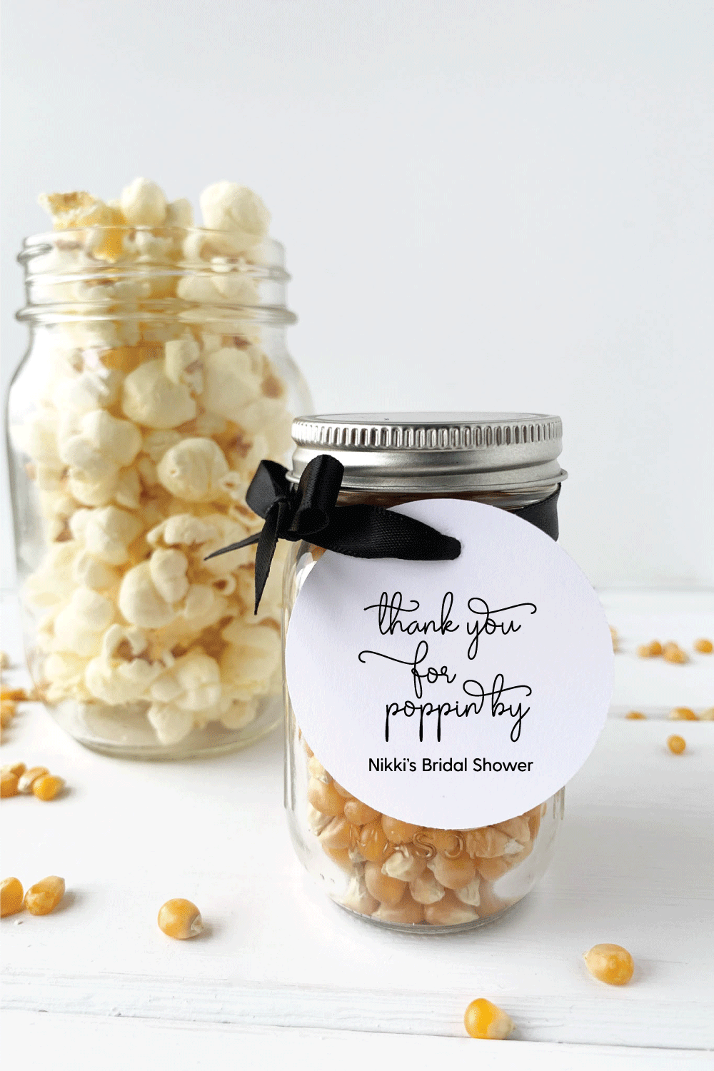 Thank You For Popping By Bridal Shower Favor Tags - Invited Too