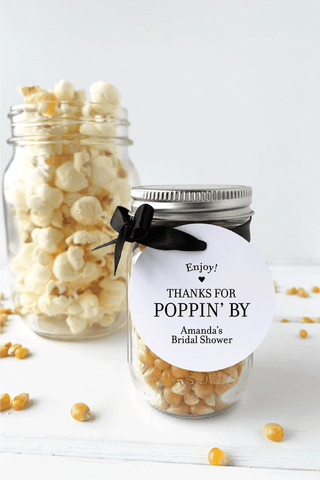 Enjoy Thanks For Popping By Popcorn Favor Tags - Invited Too