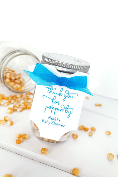 Thanks For Popping By Popcorn Favor Tags - Invited Too