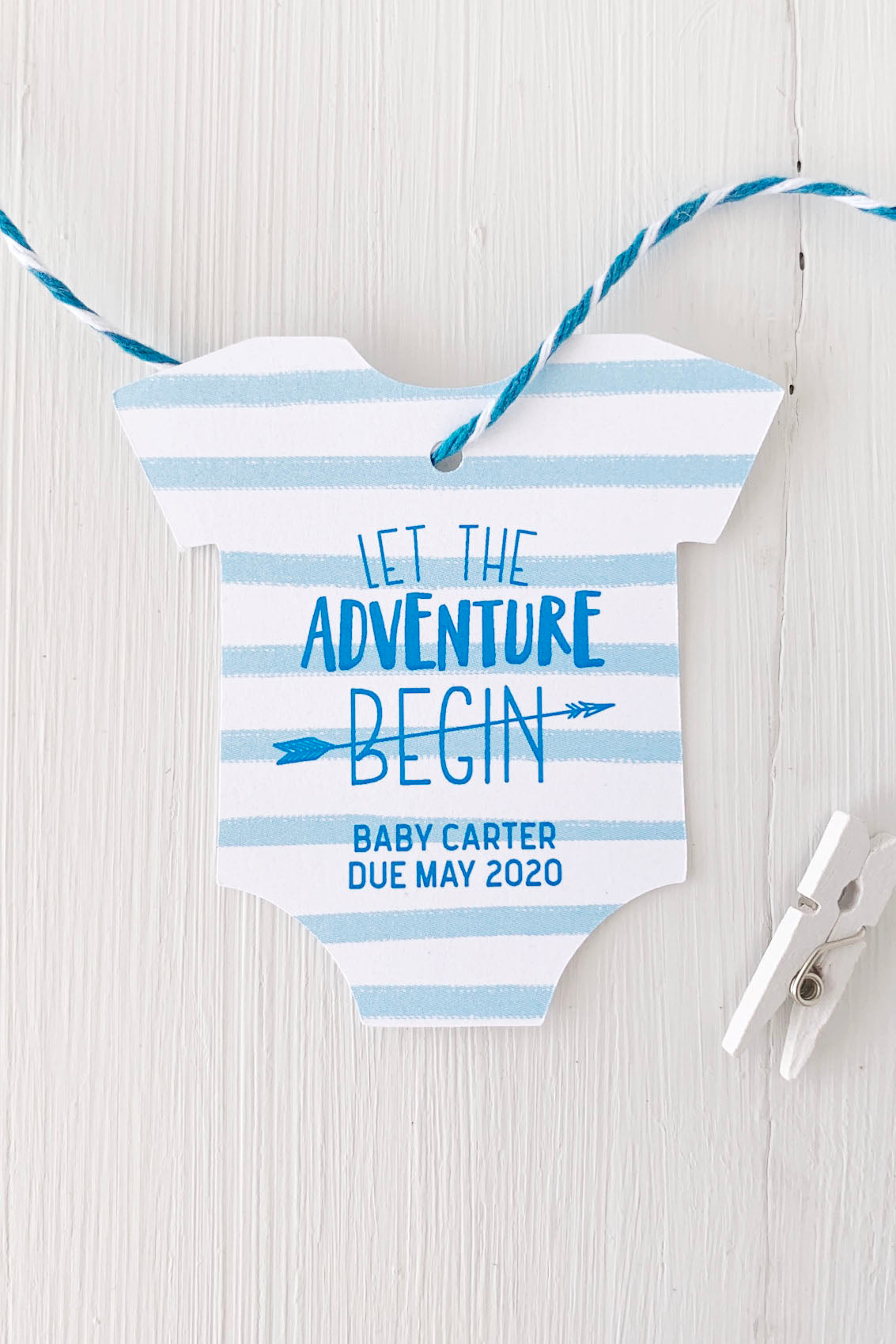 The Adventure Begins Baby Shower Favor Tags - Invited Too
