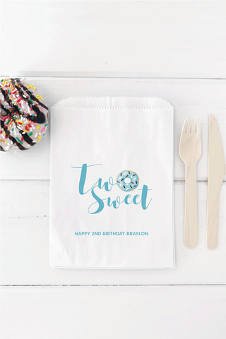 Two Sweet Birthday Party Favor Bag - Invited Too