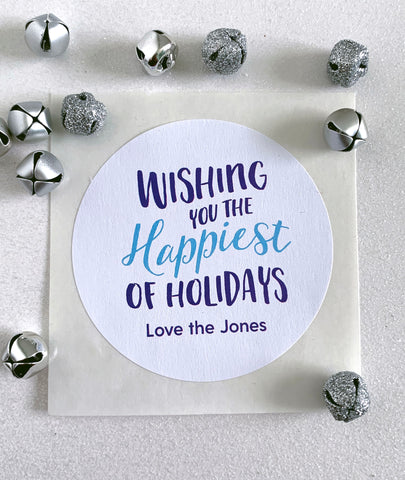 Wishing You The Happiest Holidays Christmas Sticker - Invited Too