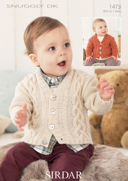 Boys V Neck And Shawl Collar Cardigans In Sirdar Snuggly DK (1473)