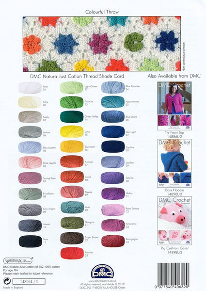 DMC Crochet Colourful Throw (14894L/2)
