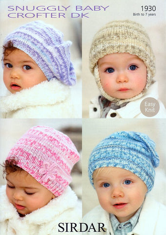 Baby's and Child's Hats in Sirdar Snuggly Baby Crofter DK (1930)-Deramores