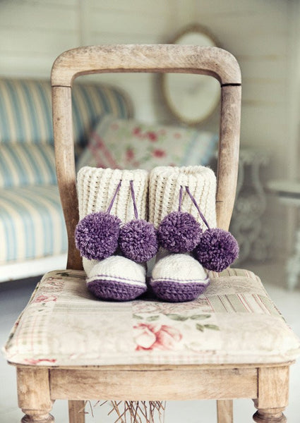 Crochet Slipper Boots in Deramores Vintage Chunky (2008)