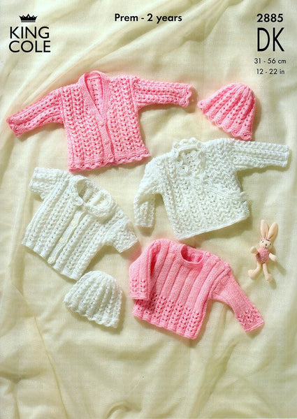 Cardigans, Sweater and Hat in King Cole DK (2885)-Deramores