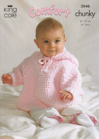 Blanket, Jacket, Cape and Rabbit in King Cole Comfort Chunky (3046)-Deramores