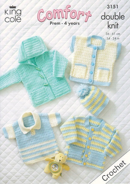Baby Garments in King Cole Comfort DK (3151)-Deramores