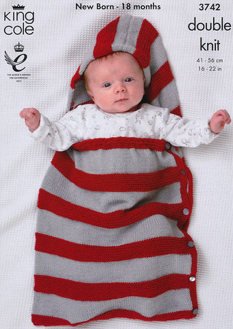 Boleros, Snuggle Bag, Hat and Bootees in King Cole Comfort Baby DK and Comfort DK Prints (3742)-Deramores