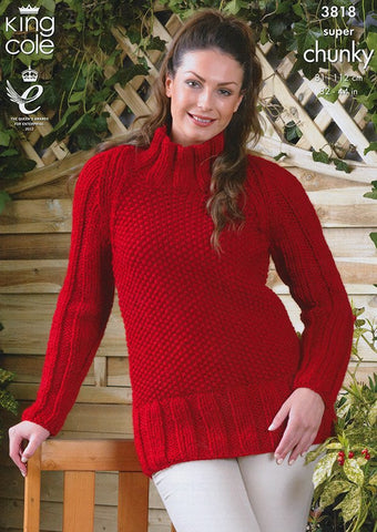 Coat and Tunic in King Cole Super Chunky (3818)-Deramores