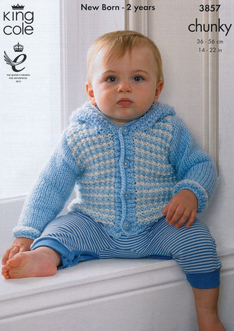 Blanket, Jackets and Hat in King Cole Chunky (3857)-Deramores