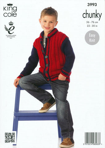 Boy's Jacket in King Cole Comfort Chunky (3993)-Deramores