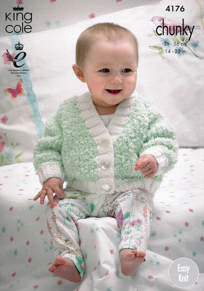 Cardigans in King Cole Cuddles and Comfort Chunky (4176)-Deramores