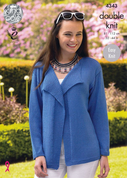 Cardigans in King Cole Bamboo Cotton DK (4343)-Deramores