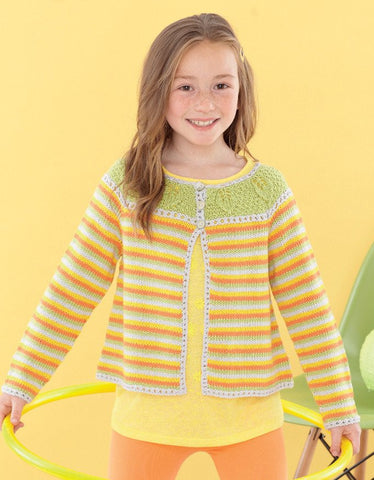 Babies and Girls Round Neck Cardigans in Sirdar Snuggly Baby Bamboo DK (4624)-Deramores