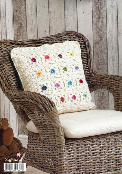 Blanket and Cushion Cover in Life DK (9090)-Deramores