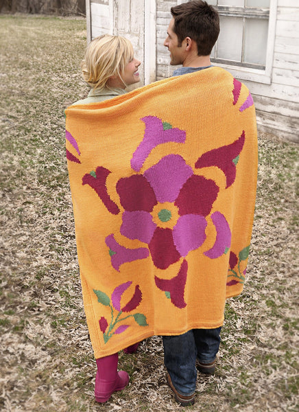 Flower Power Throw in Spud & Chloe Sweater