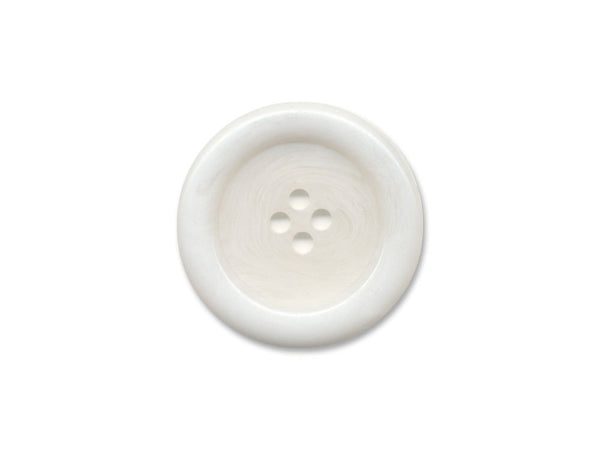 Chunky Round Rimmed Buttons - White - 853