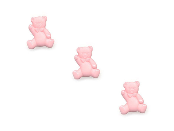 Teddy Bear Shaped Buttons - Pink - 098