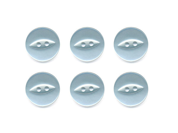 Fish-Eye Buttons - Blue - 066-Deramores