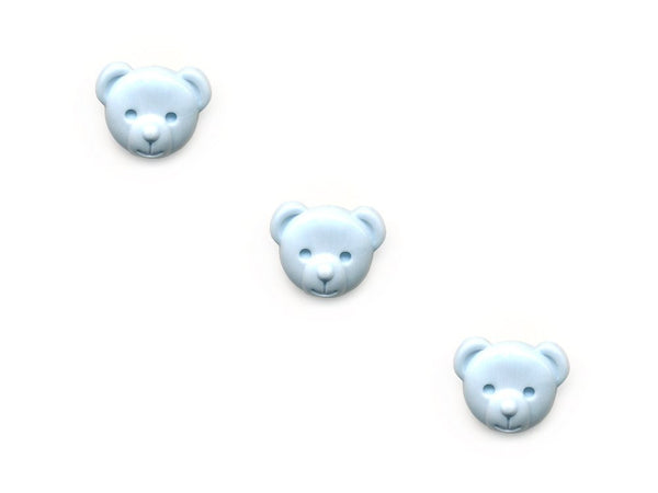 Teddy Bear Shaped Buttons - Blue - 079