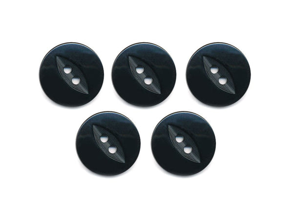 Fish-Eye Buttons - Black - 199-Deramores