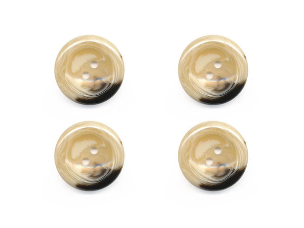 Round Shell Effect Buttons - Beige - 232