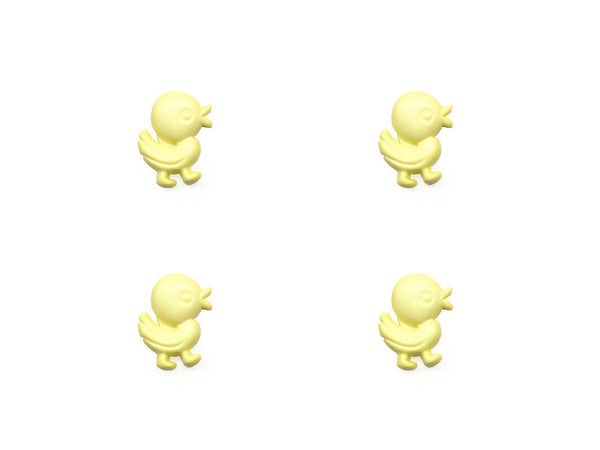 Duck Shaped Buttons - Yellow - 334