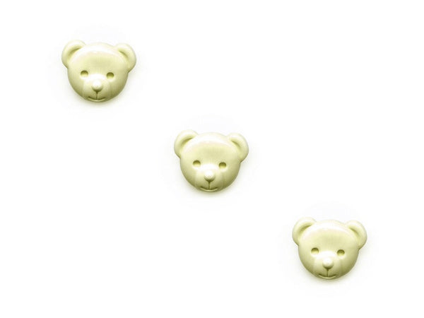 Teddy Bear Shaped Buttons - Cream - 087