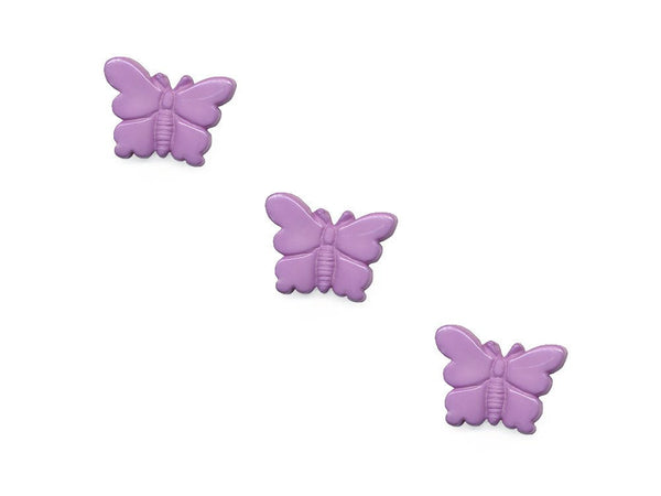 Butterfly Shaped Buttons - Purple - 958-Deramores