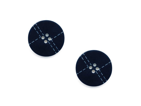 Stitch Effect Design Buttons - Blue - 972