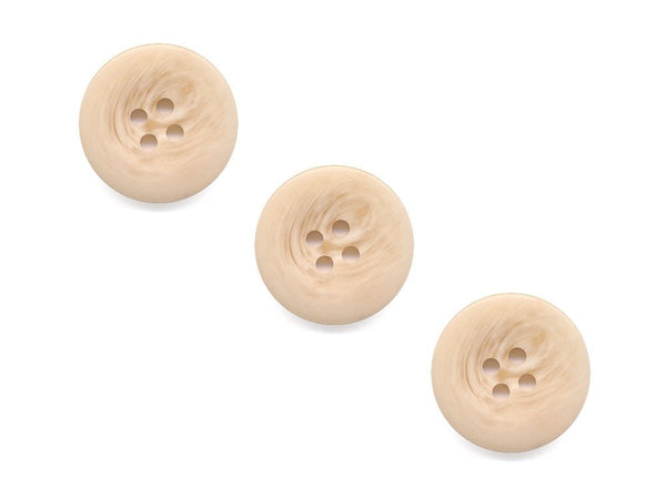 Round Shell Effect Buttons - Beige  - 086