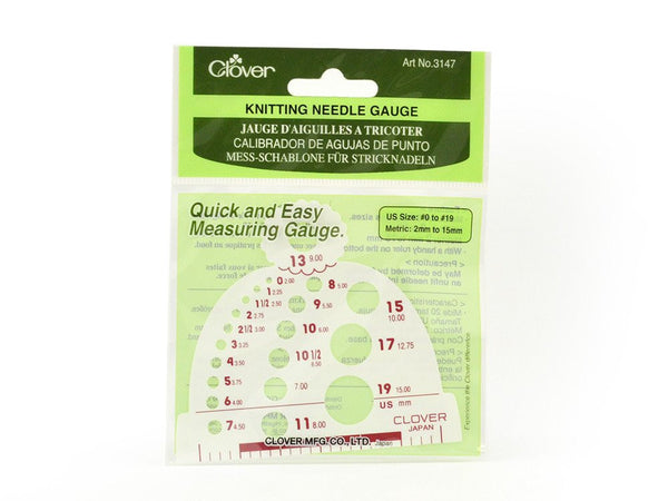Clover Knitting Needles Gauge